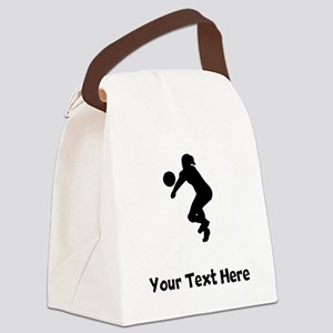 Volleyball Player Silhouette Canvas Lunch Bag