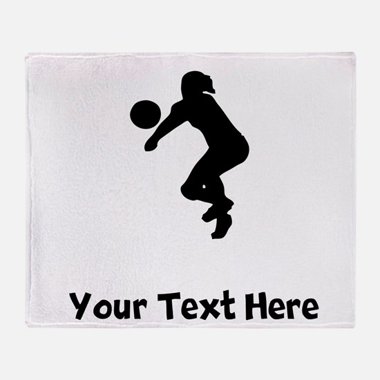Volleyball Player Silhouette Throw Blanket