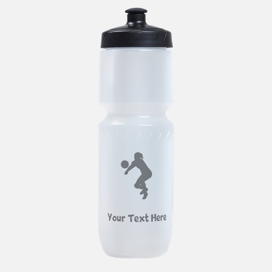 Volleyball Player Silhouette Sports Bottle