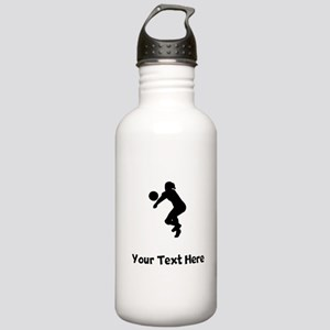 Volleyball Player Silhouette Water Bottle