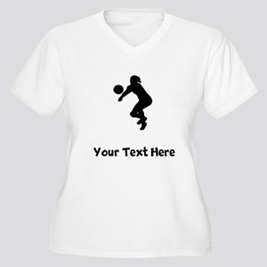 Volleyball Player Silhouette Plus Size T-Shirt