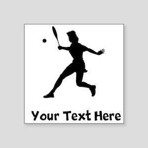 Tennis Player Silhouette Sticker
