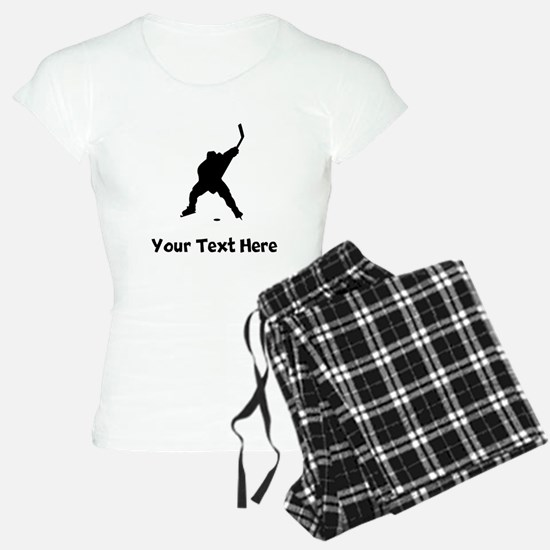 Hockey Player Silhouette Pajamas