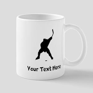 Hockey Player Silhouette Mugs