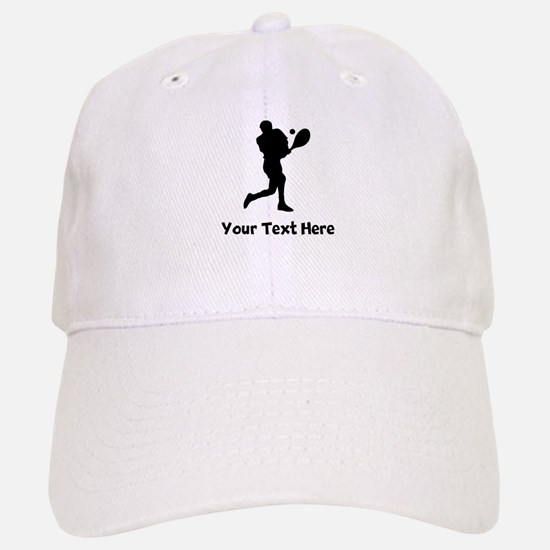 Tennis Player Silhouette Baseball Baseball Baseball Cap