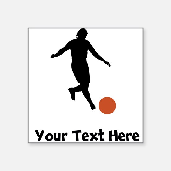 Kickball Player Silhouette Sticker