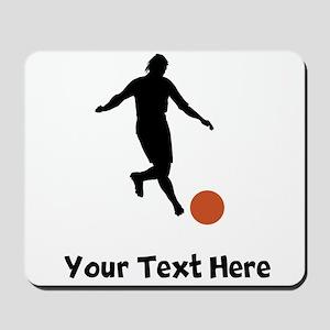 Kickball Player Silhouette Mousepad