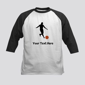Kickball Player Silhouette Baseball Jersey