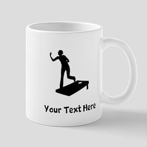 Cornhole Silhouette Mugs