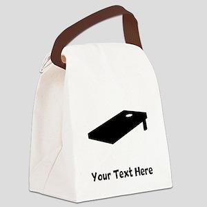 Cornhole Board Silhouette Canvas Lunch Bag