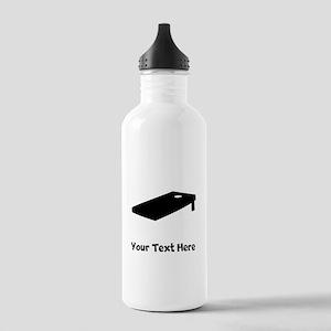 Cornhole Board Silhouette Water Bottle