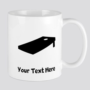 Cornhole Board Silhouette Mugs