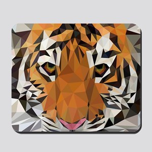 Tiger Cub Low Poly Triangle Geometric Mousepad