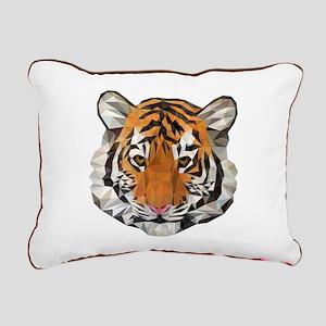 Tiger Cub Low Poly Trian Rectangular Canvas Pillow