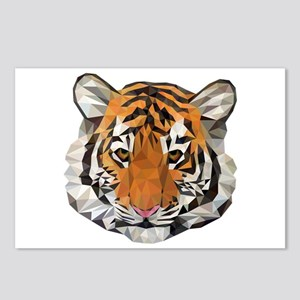 Tiger Cub Low Poly Triang Postcards (Package of 8)