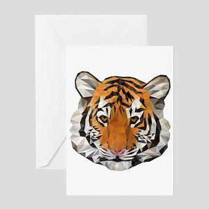 Tiger Cub Low Poly Triangle Geometr Greeting Cards