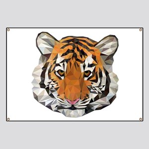 Tiger Cub Low Poly Triangle Geometric Banner