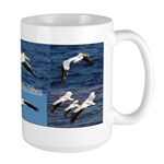 American White Pelicans Large Mugs