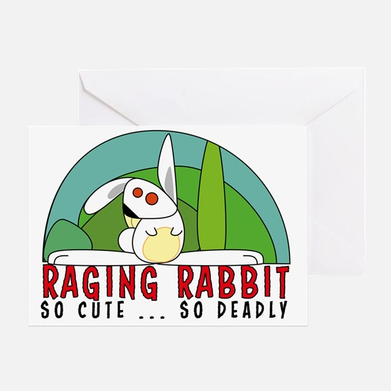 Cute Rabbit anniversary Greeting Card