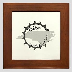 Bike North Carolina Framed Tile