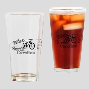 Bike North Carolina Drinking Glass