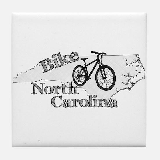 Bike North Carolina Tile Coaster