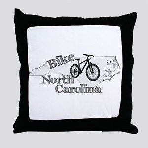 Bike North Carolina Throw Pillow