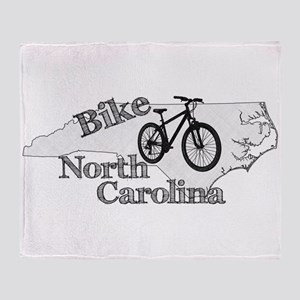 Bike North Carolina Throw Blanket