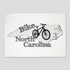 Bike North Carolina 5'x7'Area Rug