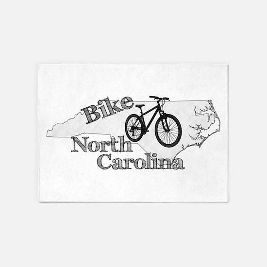 Bike North Carolina 5'x7'Area Rug