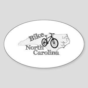 Bike North Carolina Sticker (Oval)