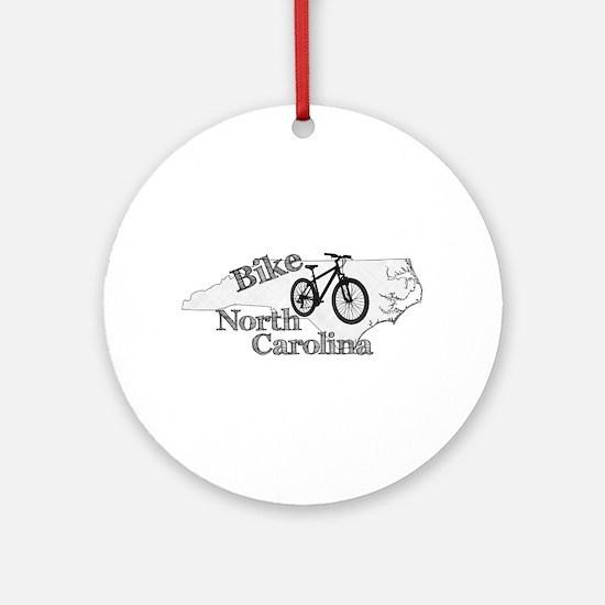 Bike North Carolina Round Ornament