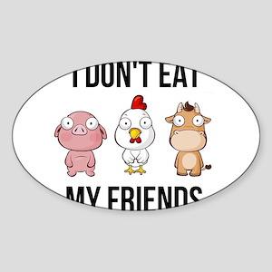 I Don't Eat My Friends - Vegan / Veget Sticker