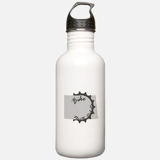 Bike North Dakota Water Bottle