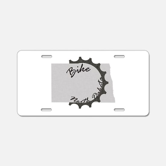 Bike North Dakota Aluminum License Plate