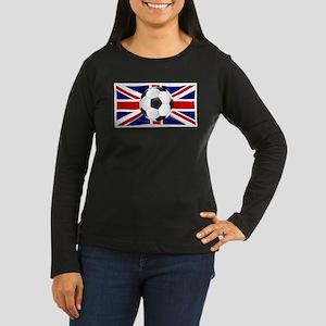 British Flag and Footbal Long Sleeve T-Shirt