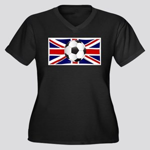British Flag and Football Plus Size T-Shirt