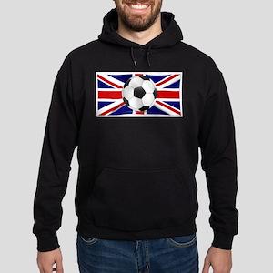 British Flag and Football Hoodie (dark)