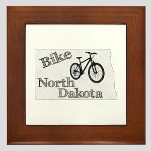 Bike North Dakota Framed Tile