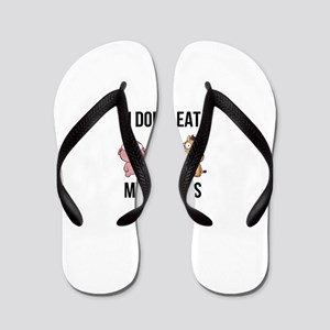 I Don't Eat My Friends - Vegan / Ve Flip Flops