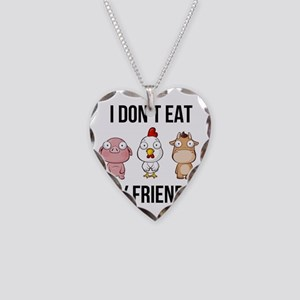 I Don't Eat My Friends - Necklace Heart Charm