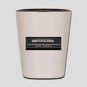 Smugglers sign Shot Glass