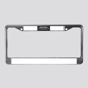 Smugglers sign License Plate Frame