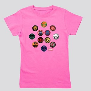 Marvel Grunge Icons Girl's Tee