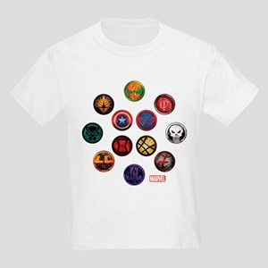 Marvel Grunge Icons Kids Light T-Shirt