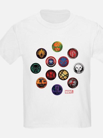 Marvel Grunge Icons T-Shirt
