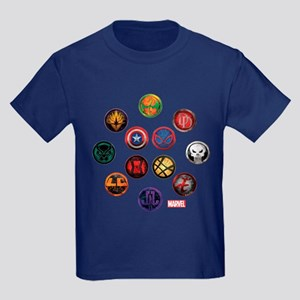 Marvel Grunge Icons Kids Dark T-Shirt
