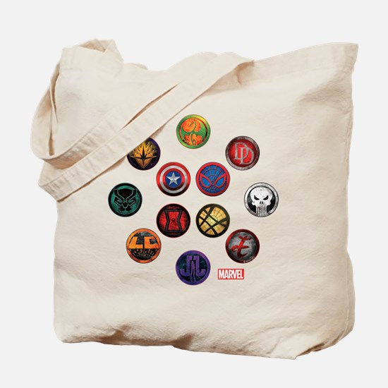 Marvel Grunge Icons Tote Bag