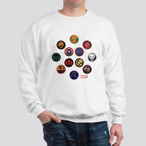 Marvel Grunge Icons Sweatshirt