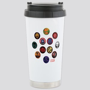 Marvel Grunge Icons Stainless Steel Travel Mug
